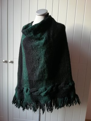 Handmade Knitted Poncho multicolored