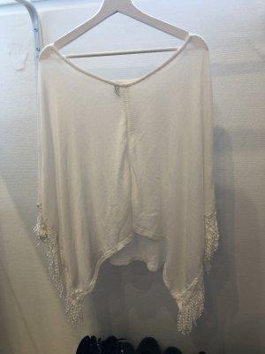 H&M Ponczo z dzianiny biały