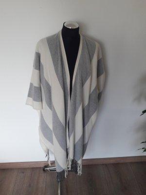 H&M Poncho bianco-grigio chiaro