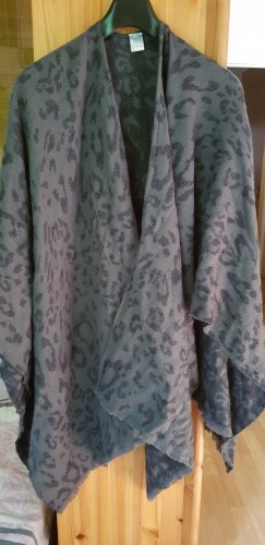 Poncho gris clair-gris