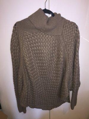 Canda Knitted Poncho khaki polyacrylic