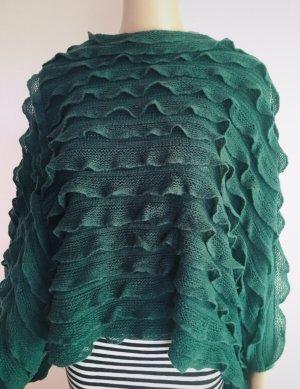Poncho in waldgrün