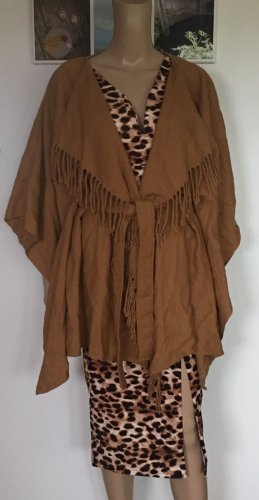 Pieces Poncho camel