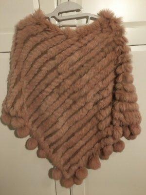 Jayley Futrzana kurtka w kolorze różowego złota