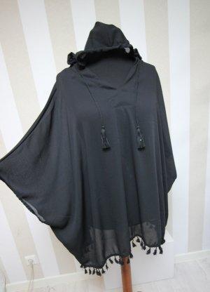 Camicia con cappuccio nero