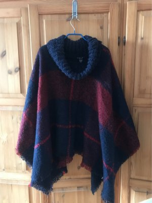 Amisu Knitted Poncho multicolored