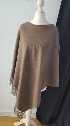 Poncho grijs-bruin