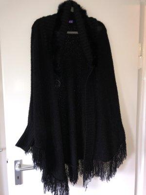 Beauty Women Futrzana kurtka czarny
