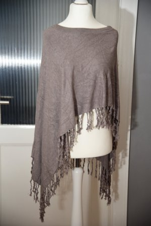 Comma Poncho taupe viscose