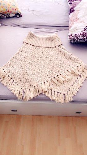Takko Fashion Poncho crema-beige claro