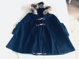 Bufanda con capucha azul oscuro