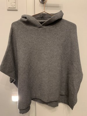Zara Knit Poncho dark grey