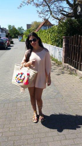 Poncho NEU Cardigan Review peach nude orange Einheitsgröße Fransen Tassel blogger hipster boho