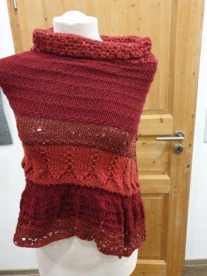 Poncho rojo oscuro-rojo ladrillo