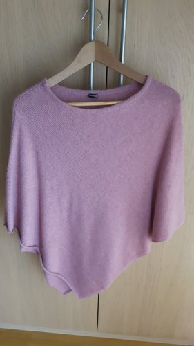 H&M Knitted Poncho dusky pink wool