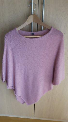H&M Poncho en tricot vieux rose laine