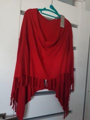 Orsay Poncho rouge brique