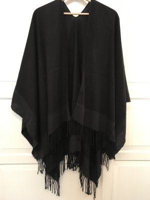 Knitted Poncho black-anthracite