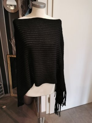 Accessoires Knitted Poncho black