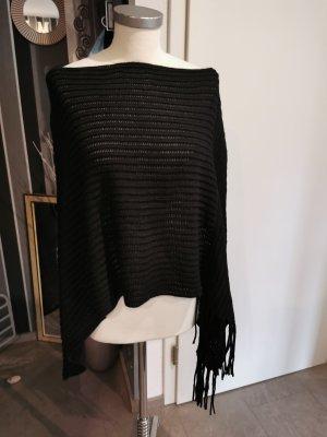 Accessoires Poncho en tricot noir