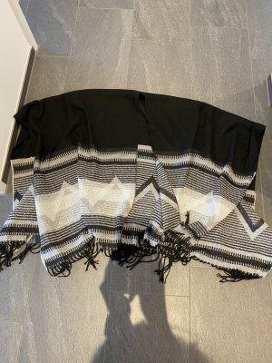 H&M Gebreide sjaal zwart-wit