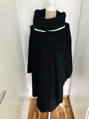 Zara Poncho blanc-noir