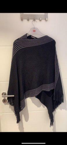 Orsay Poncho in maglia nero-grigio