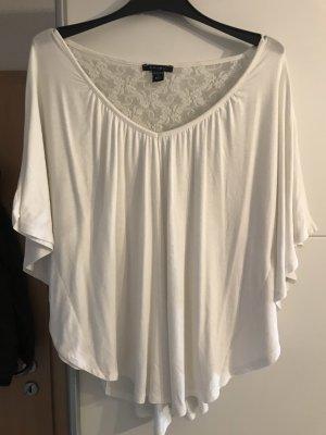 Amisu V-hals shirt wit