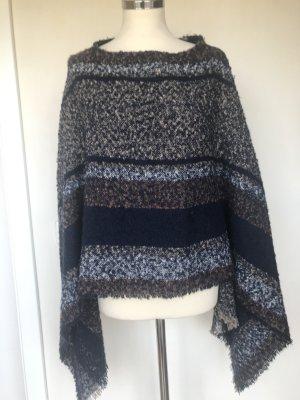 Poncho en tricot multicolore polyester