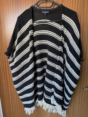 Tommy Hilfiger Poncho en tricot noir-blanc