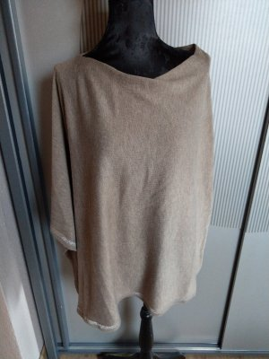 C&A Knitted Poncho light brown