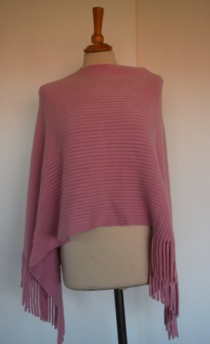 Poncho Umhang Cape in Rose