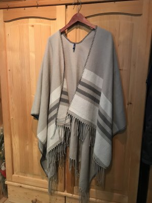 Cecil Knitted Poncho light grey