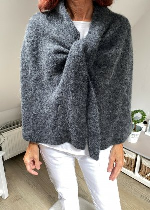 COS Poncho gris anthracite