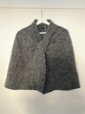 COS Poncho gris anthracite tissu mixte