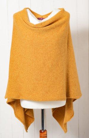 Fine Knitted Cardigan ocher-gold orange wool