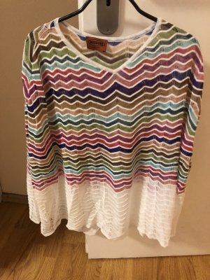 Missoni Poncho in maglia multicolore