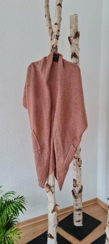 Only Poncho en tricot vieux rose
