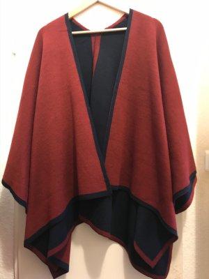 Orsay Poncho noir-rouge carmin