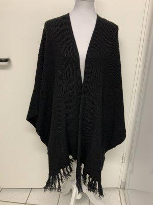 Oui Poncho en tricot noir