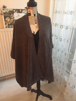 Vila Knitted Poncho taupe