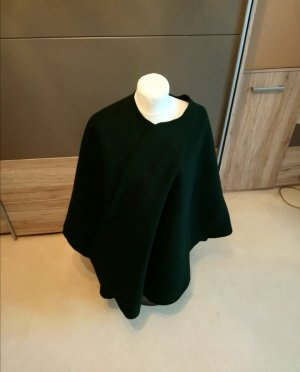 Poncho nero-verde scuro Lana