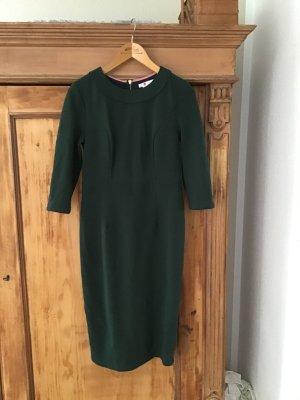 Boden Sheath Dress forest green cotton