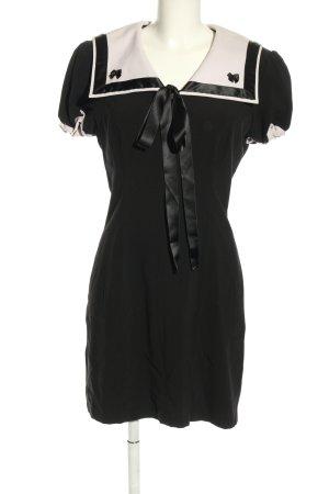Ponymädchen Minikleid schwarz-wollweiß Elegant