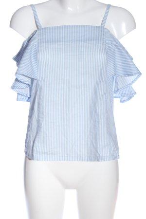 Poof! Carmen-Bluse blau-weiß Streifenmuster Casual-Look