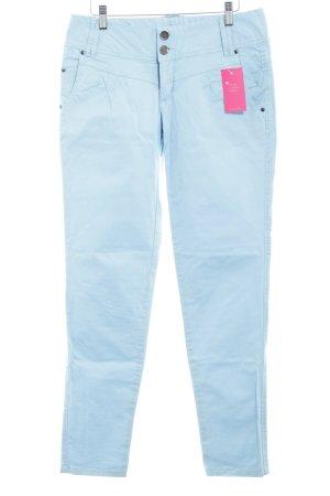Poolgirl Pantalone a vita bassa azzurro stile casual