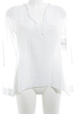 Poolgirl Camicetta a maniche lunghe bianco stile casual