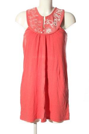Poolgirl Camicetta lunga rosso-bianco motivo floreale stile casual