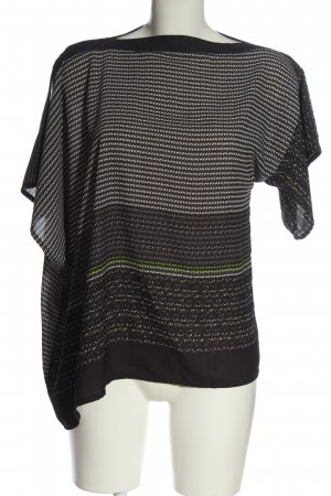Poolgirl Slip-over Blouse black-white abstract pattern elegant