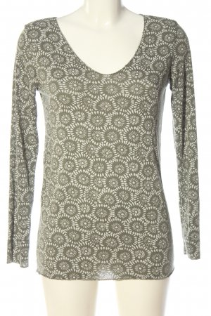 Poolgirl Knitted Jumper khaki-white abstract pattern casual look